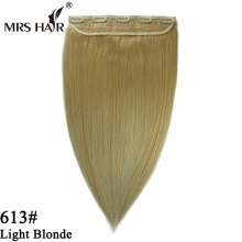 Best selling cheap 100% human hair clip in hair extension for african american