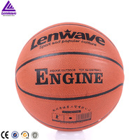 2016 New design Lenwave PU leather custom matched balls basketball wholesale