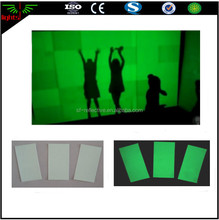 good quality glow in the dark night wall paper luminous stickers / film for warning safety signs