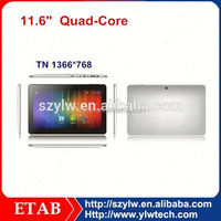 11.6 Inch big screen A31S quad core tablet pc 12 inch