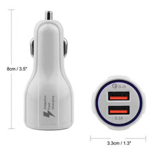 12 Volt 5 Volt 3.1A Car Charger Adapter 2 USB, 5V 3.1A 9V 2A 12V 1.67A QC 3.0 USB Car Charger 50-60Hz