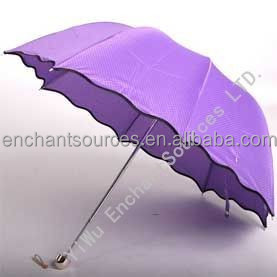 Promotional advertising cheap princess umbrella with lighting handle