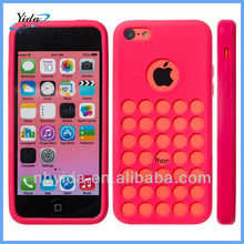 Pink Colorful Soft Holes TPU Case For iPhone 5C