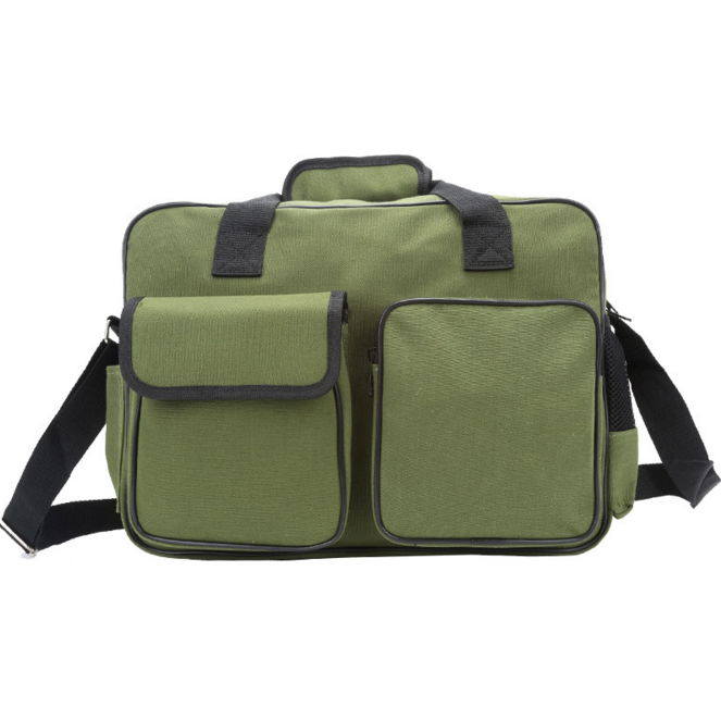 Large durable cheap hanging electrical canvas tool kit bag with shoulder strap