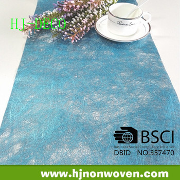 long fiber turquoise sparkle table runner wedding runners