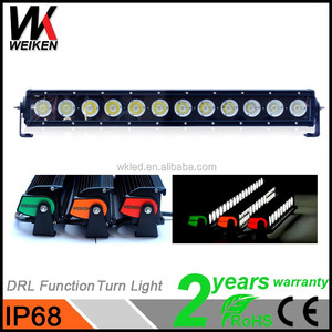 Weiken aluminium housing IP68 crees 120w led light bar wholesale super slim spot flood excellent grow car led light