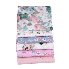 Pink Floral Printed Twill 100% Cotton <strong>Fabric</strong> For Baby Bedding DIY Sewing
