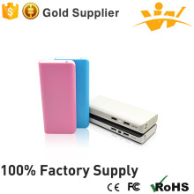 colourful 3.7V-5V/1A led light mini power bank 10000mah