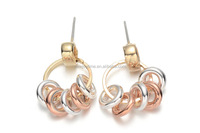 Young Fashion Jewelry Gold Silver Metal Alloy Hoops Drop Earring without Stones
