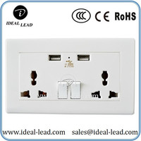 Dongguan Factory Wholesale Universal plug socket USB Wall Outlet
