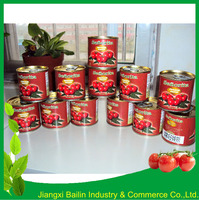 Canned Tomato Paste Made Brix 28-30 198g