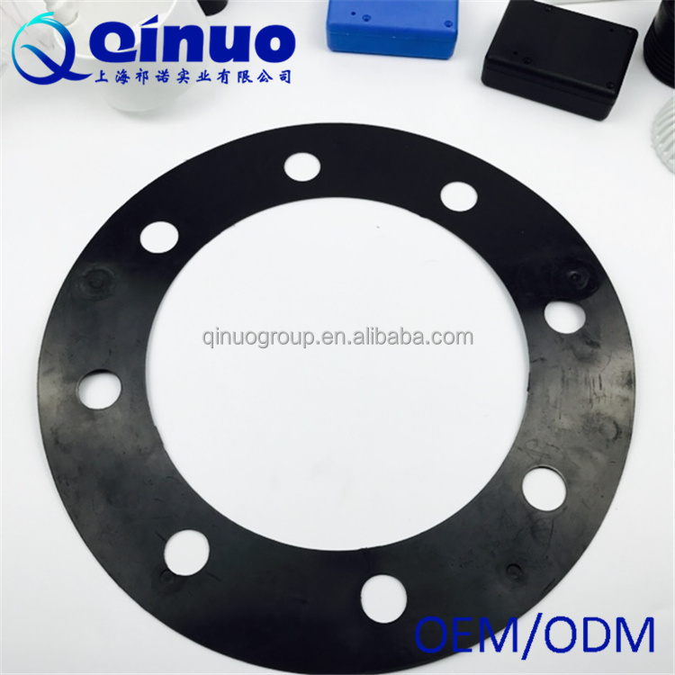 LDPE custom black injection moulded plastic spare parts