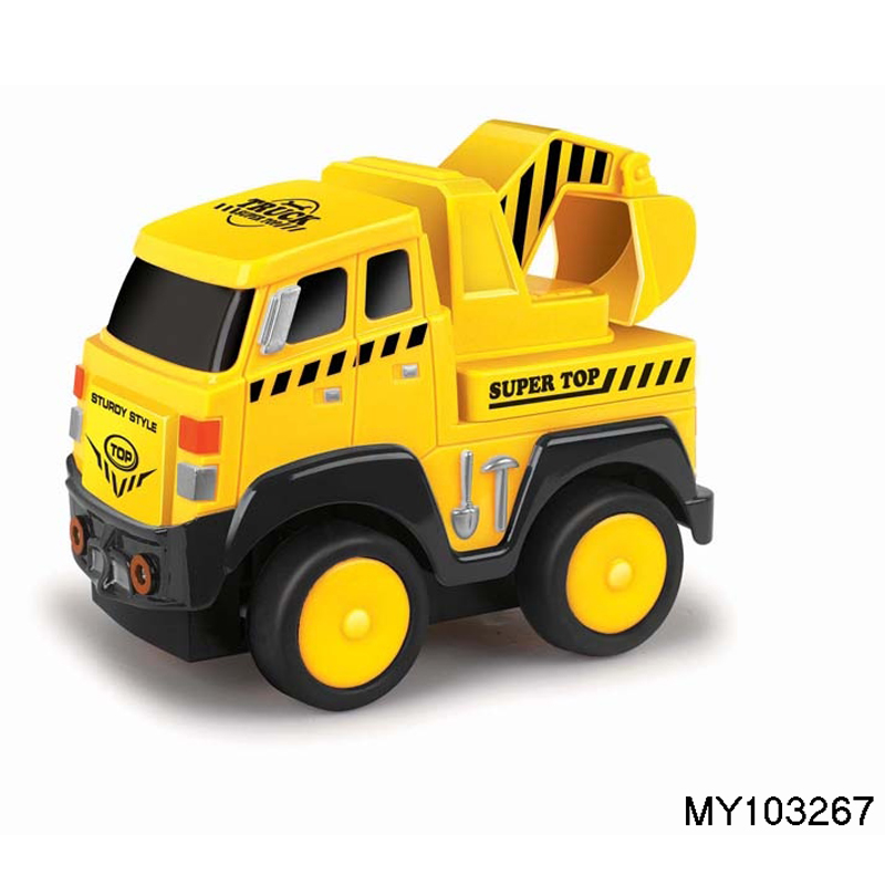 Powerful friction kid plastic tow truck toy for sale