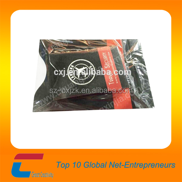 RFID blocking card protection sleeve, credit card and passport protector