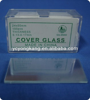 Cover glass microscope slides