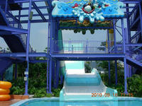 Family fiberglass water slides pool big water slides