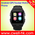 TWATCH X02 1.54 Inch IPS Screen GPS Tracker Android 3G Mobile Watch Phone