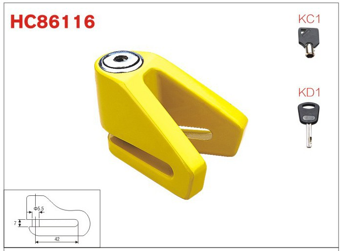 waterproof motor bike disc Lock,motorbke accessories ,scooter lock