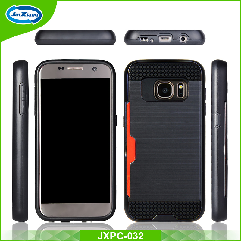 2 in 1 tpu pc hybrid slim armor mobile phone case for samsung galaxy s7