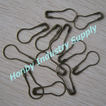 Wholesaled 22mm Old Brass Color Steel Calabash Safety Pins