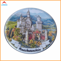 Free Make Mould Dia90*T4mm Round Shaped Metal Coaster with Custom Printed Logo or Text Tinplate Coasters