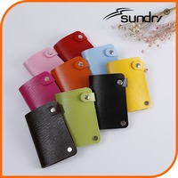 Fine pvc credit holder card wallet leather business card, plastic business card case