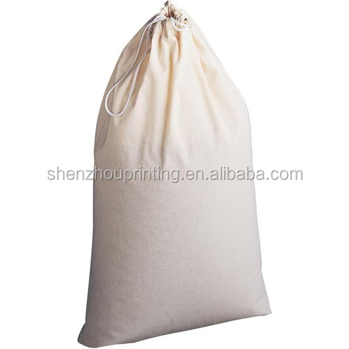 China alibaba new style custom large size recyclable organic canvas cotton flour bags with drawstring