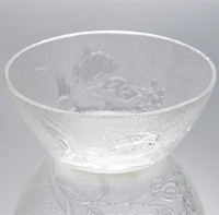 Clear Rose Glass Bowl