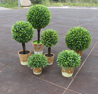 Hottest Small Boxwood Topiary 1 ball plastic tree handicraft