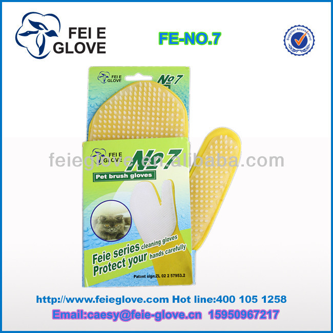 CE NO.7 special cleaning gloves for pet belong to household rubber gloves manufacturer latex cleaning gloves