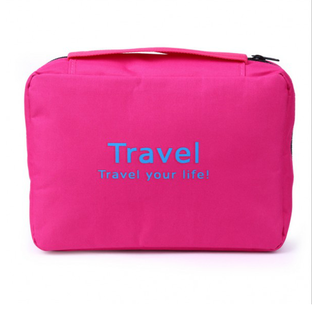 Customized Fashion Foldable Cosmetic Pouch Hanging Travel Toiletry Bag For Men and Women