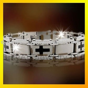 HOT fashionable stainless steel big bracelet jewelry for men,paypal accepted