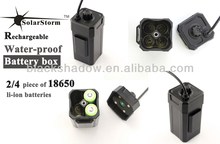 Solarstorm BC-1 rechargeable water-proof 4*18650 li-ion battery box used for bike light