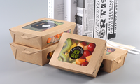 Wholesale disposable food grade boxes paper lunch box