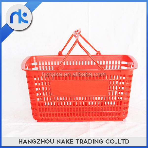 Wholesale Price Customizable Collapsible Supermarket Shopping Basket