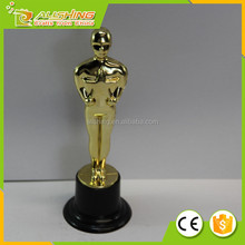 Wholesale Oscar gold figure/Plastic Oscar trophy awards 15.5cm best selling