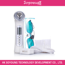 SY1308 Handheld Ultrasound with Red,Blue and Green LED Lights Facial Beauty Machine