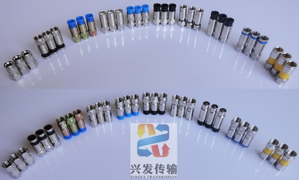 Trade Assurance XINGFA 2016 Rg6 Compression F Connector used for over the Air Transmissions