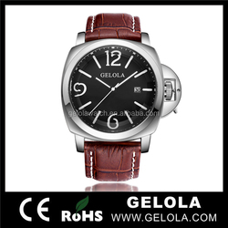 Famous GQ8037 stylish brand swiss watch man with miyota automatic , vintage watch form gelola watch factory