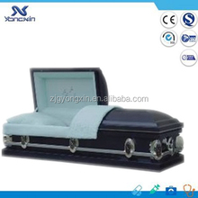 Blue crepe interior 18 gauge metal casket(YXZ-1849)