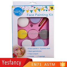 factory price cosplay party face paint kit face and body paints
