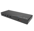 Unique 5k original USB3.1 docking station compatible with both Type-C and Tpype-A Laptop/Desktop with dual DP,HDMI output