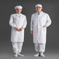 EU standard white unisex esd anti static lab coat
