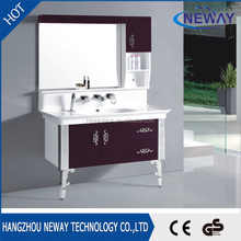 Wholesale modern PVC bathroom wall cabinet with mirror door