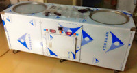 90%sale double pans flat pan fried ice cream machine for sale made in china