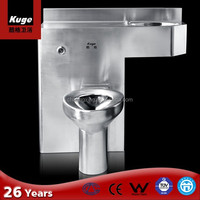 Stainless steel sanitary ware commode toilet