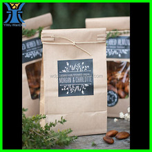 Yiwu New Arrived unique customized printed recycle fancy handmade Printed brown kraft paper bag