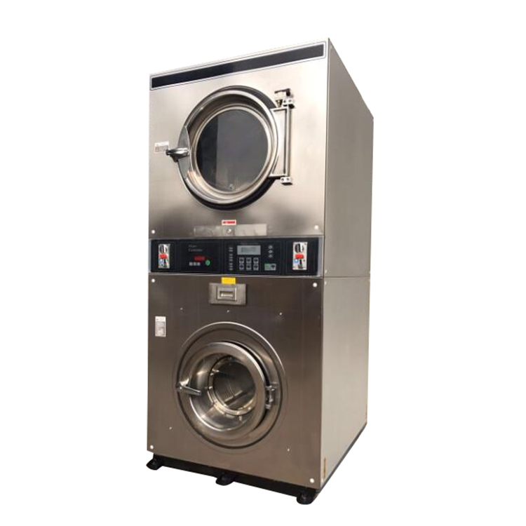 Commercial coin operated washer , Double Stack washer dryer all in one