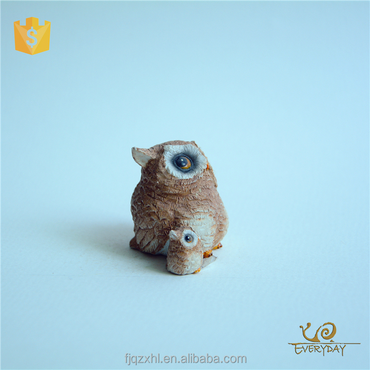 resin owl statues molds for home decoration