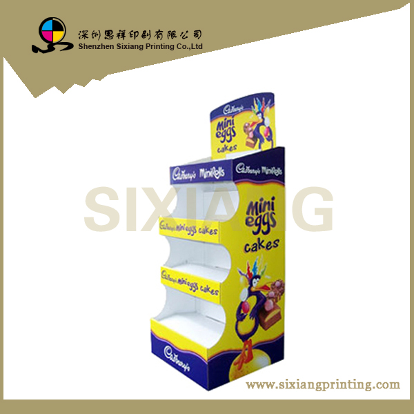 Professional design and printing cardboard display stand for cupcake
